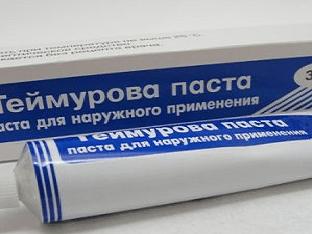 Паста Теймурова: инструкция по применению