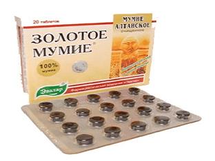 Мумие в таблетках: способы применения
